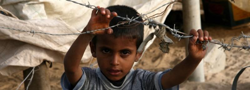 los niños de franja de gaza