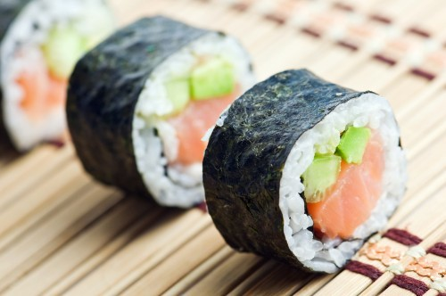 rolls de sushi
