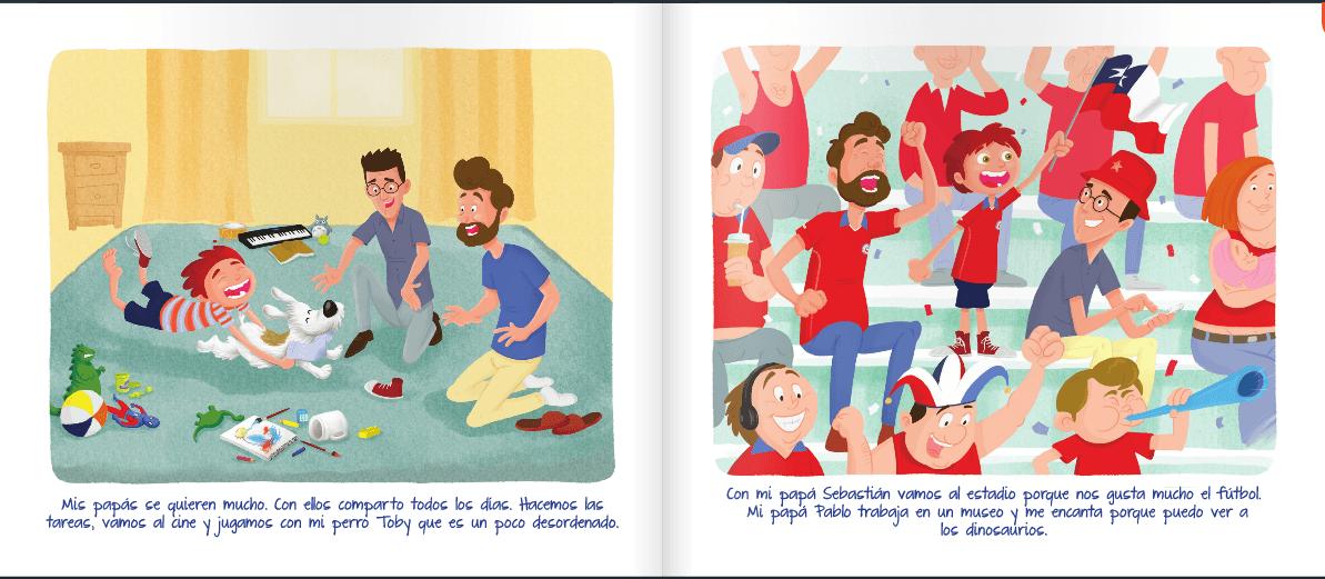 libro nicolas tiene 2 papas pagina 3 y 4