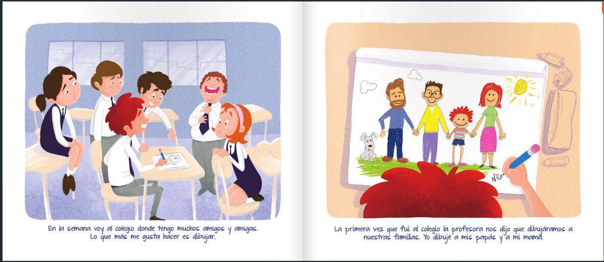 libro nicolas tiene 2 papas pagina 7 y 8