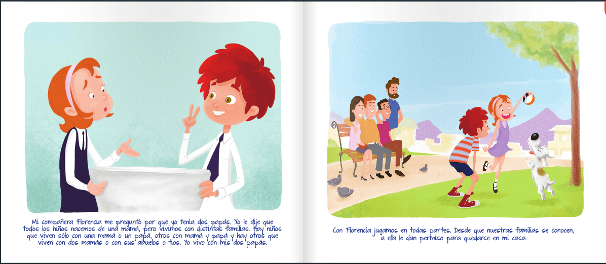 libro nicolas tiene 2 papas pagina 9 y 10
