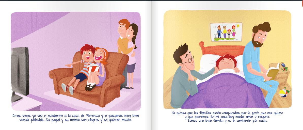 libro nicolas tiene 2 papas pagina 11 y 12