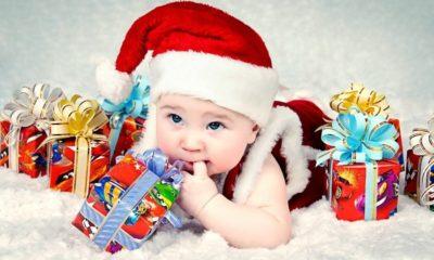 Bebe en navidad