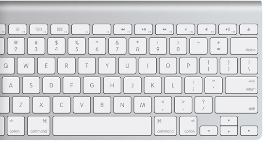 teclado de computador apple