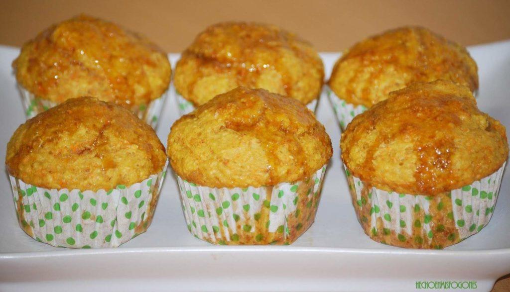 muffins de zanahoria con avena