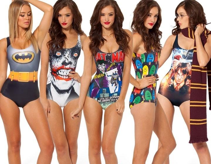 Imágenes de mujeres en traje de baño de super heroes