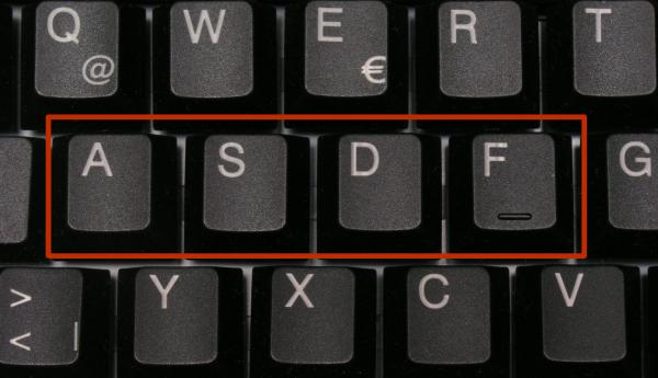 asdfasdf on a keyboard