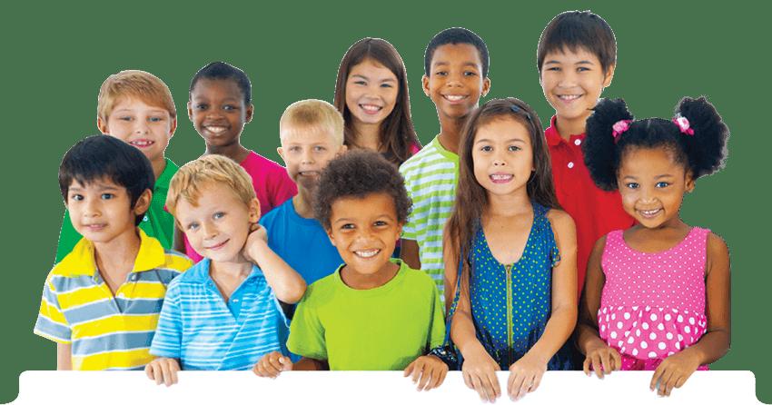 grupo de niños de diferentes razas