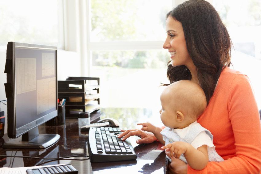 trabajar en casa con bebe