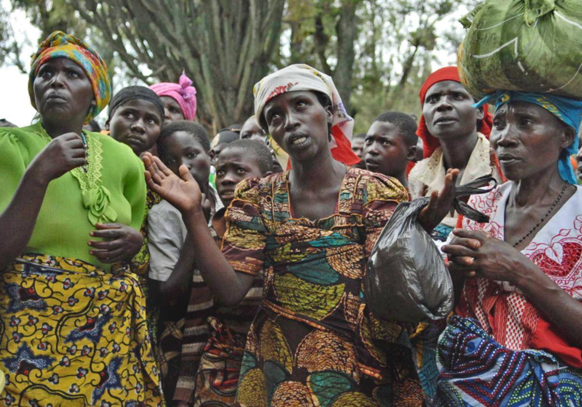 mujeres desplazadas en el congo