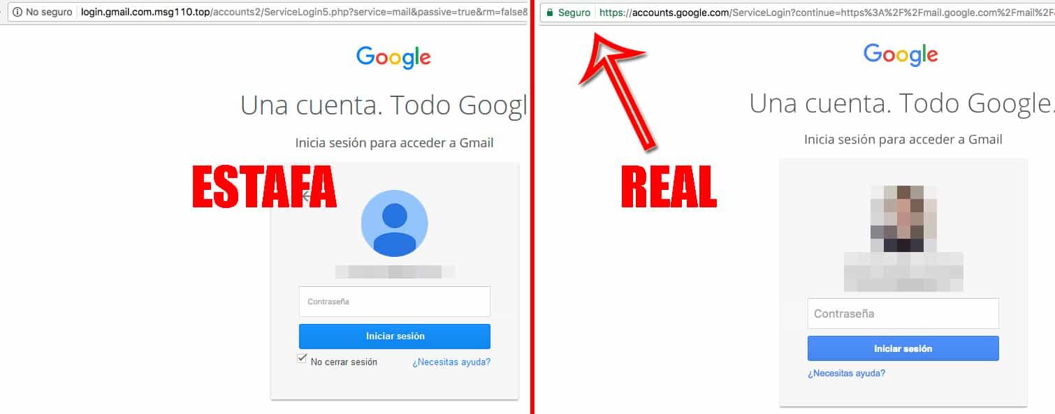 estafa de correo gmail