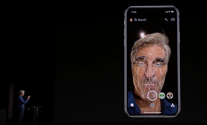 reconocimiento facial del iPhone X