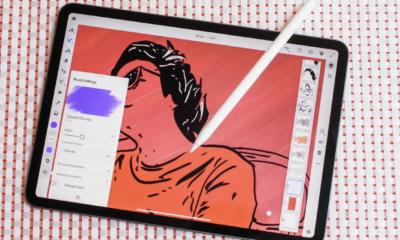 usando el apple pencil para dibujar en un iPad